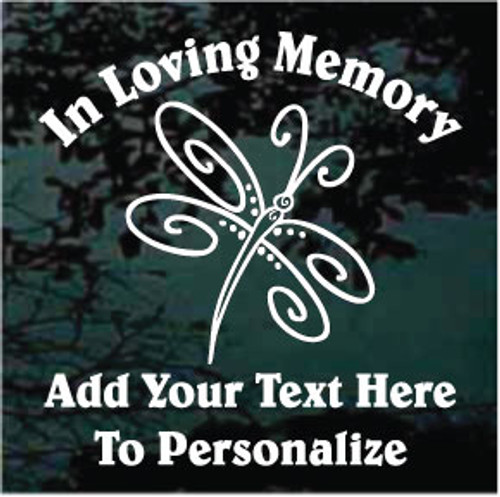 Whimsical Dragonfly Memorial Decals