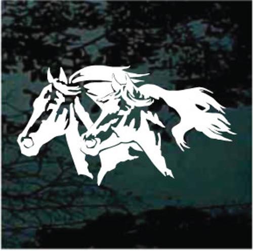 Running Horse Heads Decals