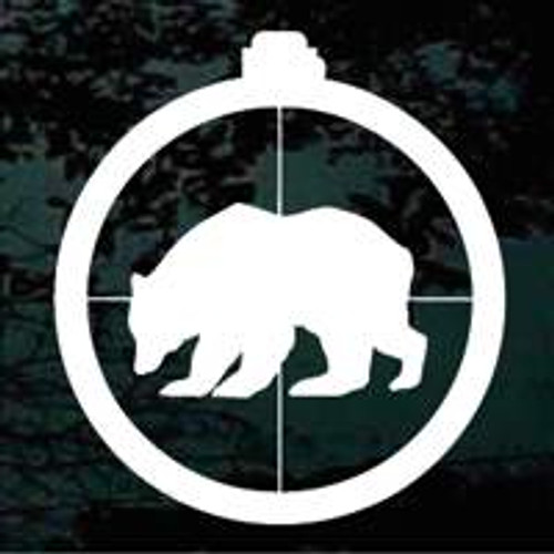Bear in Scope Window Decals