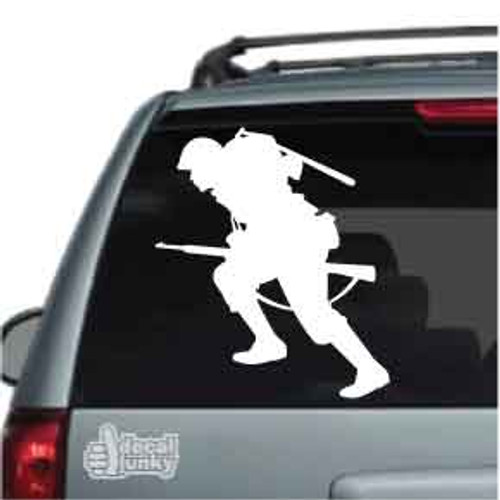 Combat Soldier With Rifle Car Decal