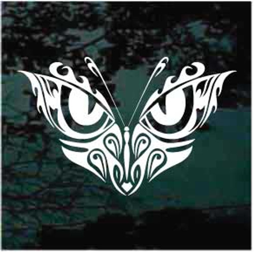 Dramatic Tribal Butterfly Window Decal