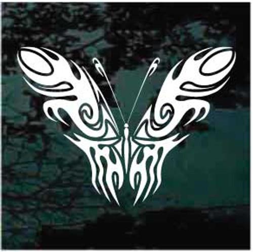 Beautiful Tribal Butterfly Window Decal