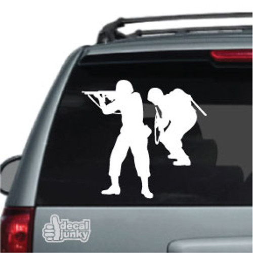Combat Soldiers With Rifles Car Decals Custom Stickers