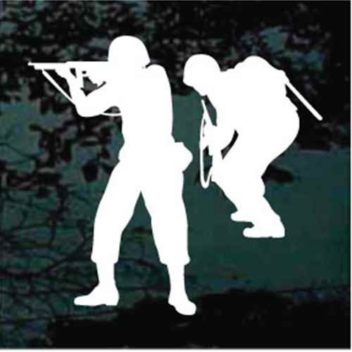 Combat Soldiers With Rifles Decals