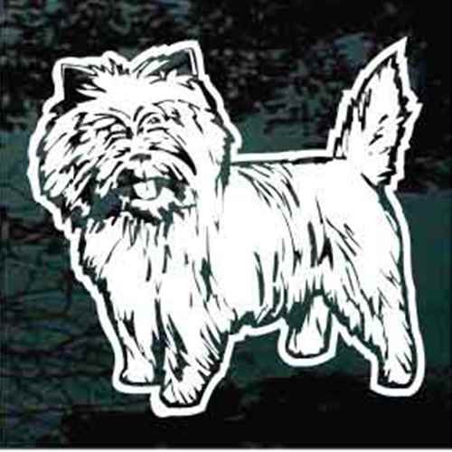 Detailed Cairn Terrier Window Decal