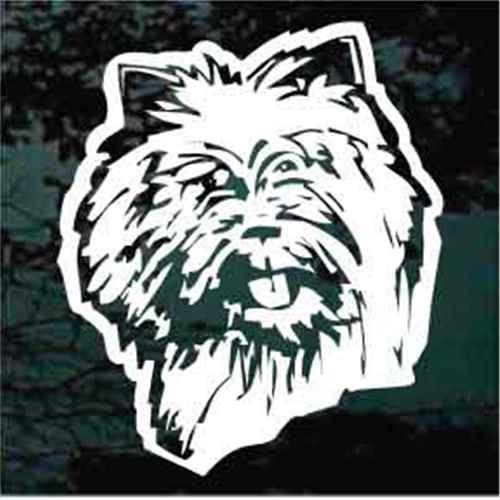 Cairn Terrier Head Window Decal