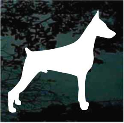 Miniature Pinscher 01 Silhouette Window Decal