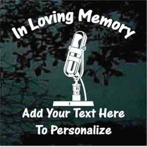 Vintage Microphone Memorial Decals
