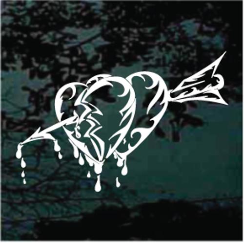 Bleeding Hearts With Arrow Window Decals