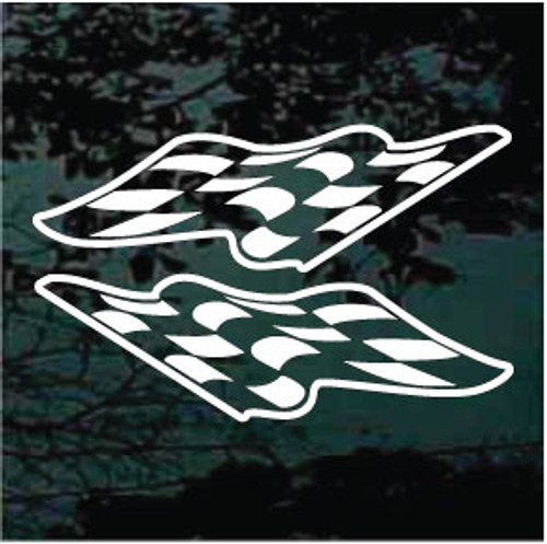 Race Flags Auto Graphic Decals
