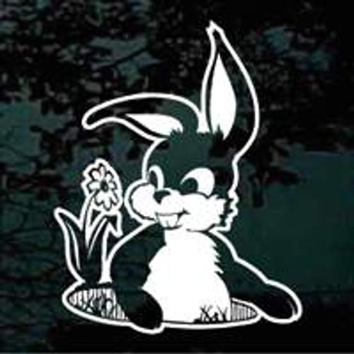 Cute Bunny Rabbit Cartoon Decals