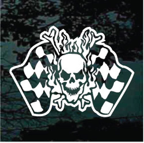 Flaming Skull Race Flags