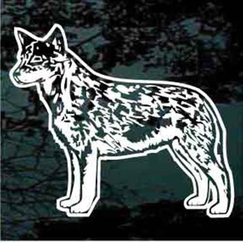 Australian Cattle Dog Standing Window Decal