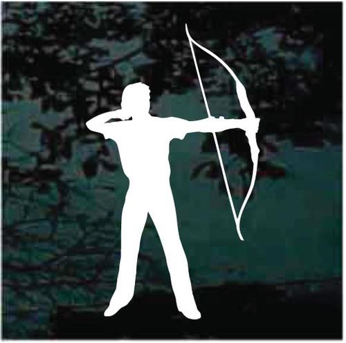 Archer Shooting Bow & Arrow Window Decals