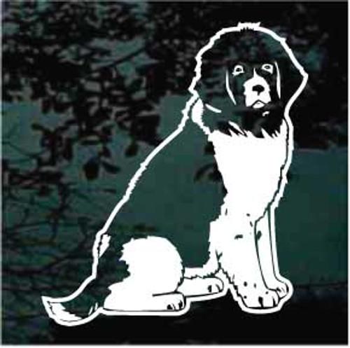 Newfoundland Dog Sitting Decals