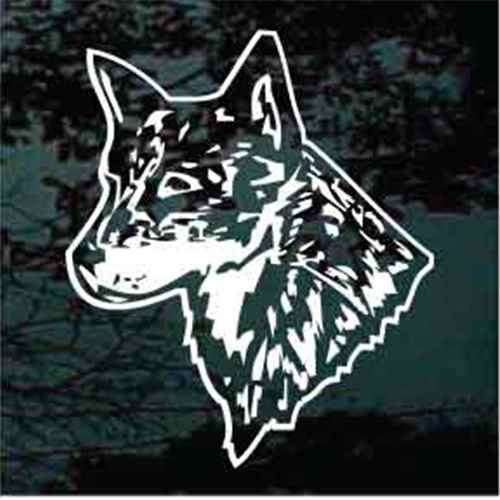 Detailed Australian Cattle Dog Head Window Decal