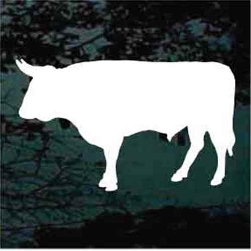 Bull Silhouette Window Decals