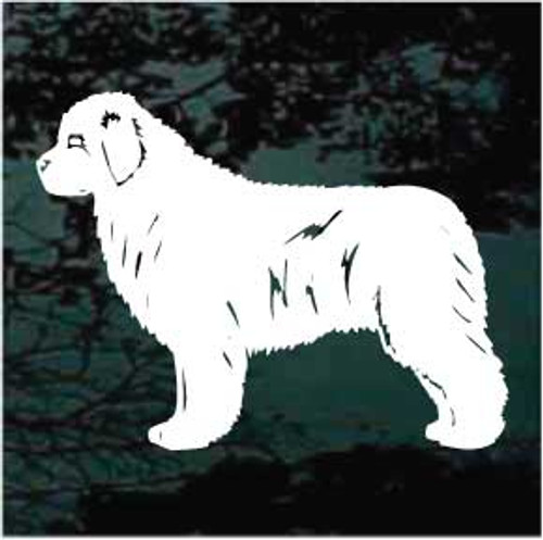 Newfoundland Dog 02 Window Decal