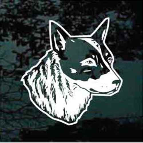 Realistic Australian Cattle Dog Head Window Decal