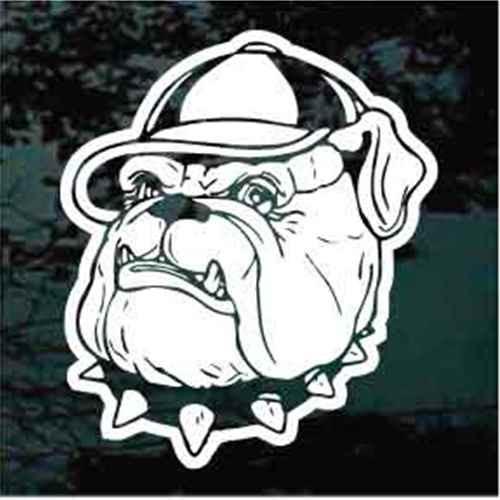 Bulldog Wearing Baseball Cap Decals