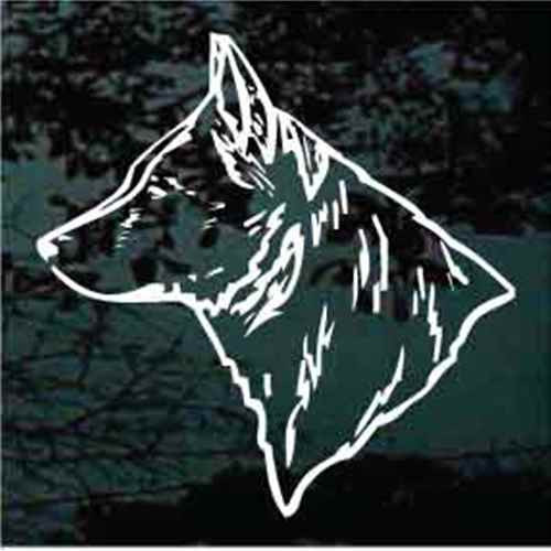Australian Cattle Dog Head Outline Window Decal
