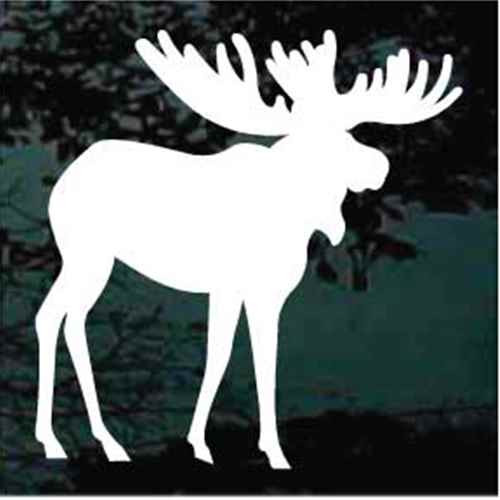 Large Moose Silhouette Car Decals