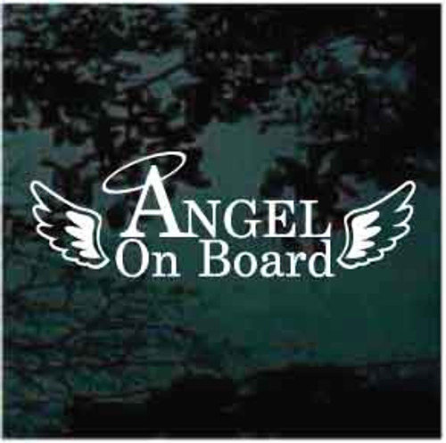 Angel On Board With Wings Decals
