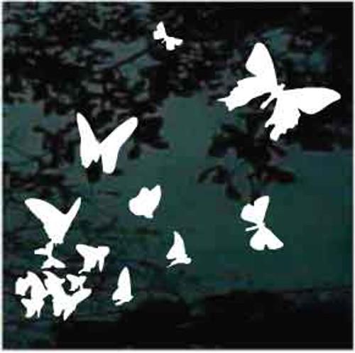 Butterflies In Flight Car Window Decals