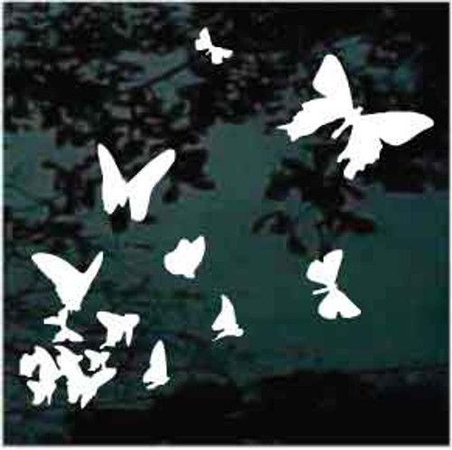 Butterflies In Flight Window Decals