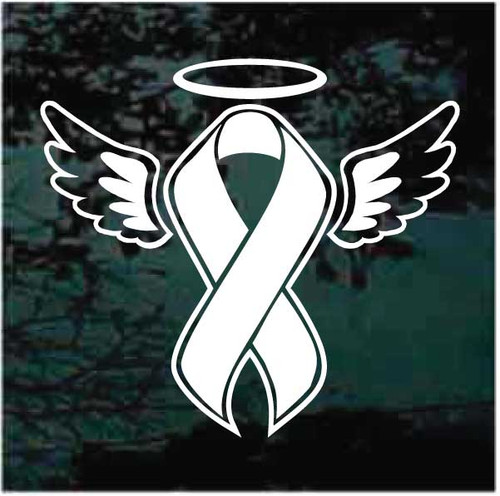 Memorial Ribbon Wings Halo Decals