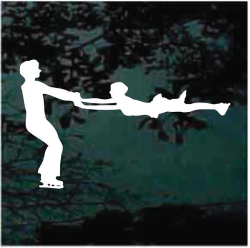 Ice Skating Pair Spin Decals
