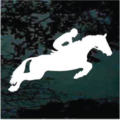 Horse Jumping Silhouette With Rider Decals