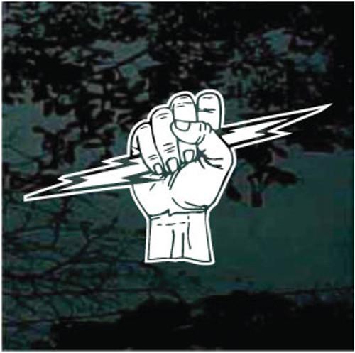 Fist Holding Lightning Bolt