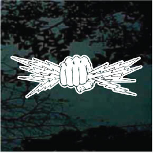 Fist Squeezing Lightening Bolts - Electrician