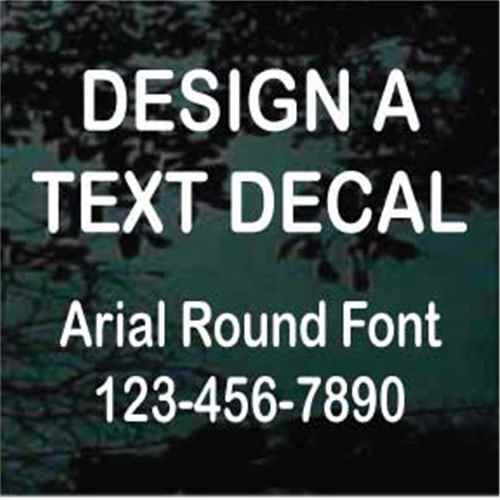 Arial Round Font Custom Text