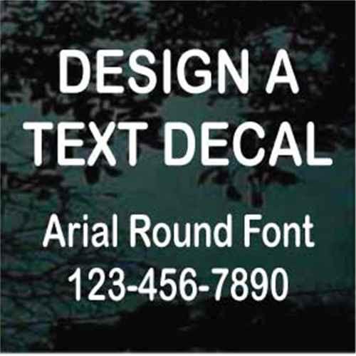 Arial Round Vinyl Lettering Decals
