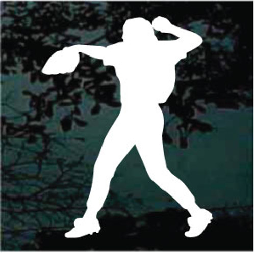 Excellent Softball Pitcher Window Decal