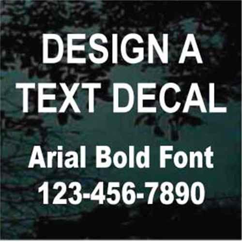 Arial Bold Vinyl Lettering Window Decals