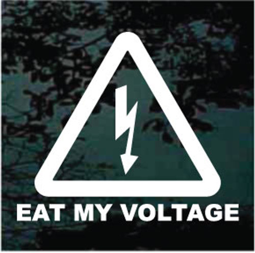 Eat My Voltage Window Decals