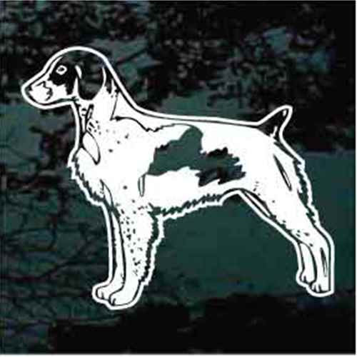 Brittany Spaniel Stance Window Decal
