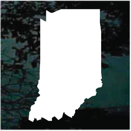 Indiana State Window Decals