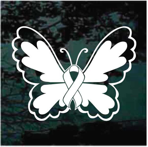 Butterfly Awareness Ribbon Decals