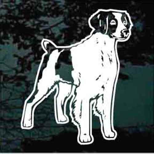 Brittany Spaniel Standing Window Decal