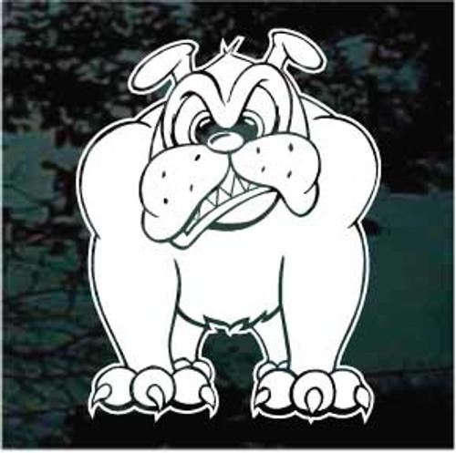 Funny Bulldog Window Decal