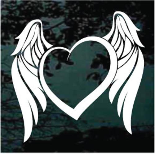 Angel Wings Heart Window Decals