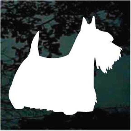 Scottish Terrier 04 Silhouette Window Decal