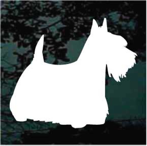 Scottish Terrier Silhouette Decals