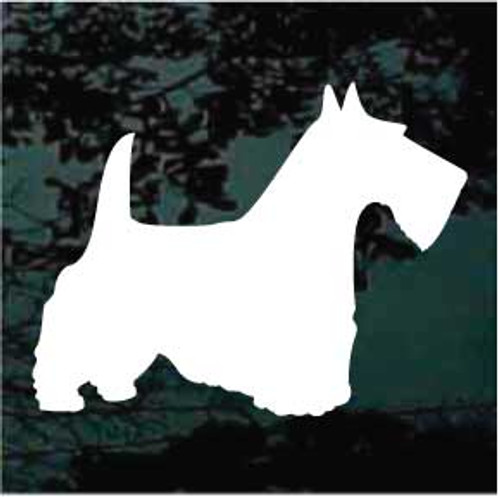 Scottish Terrier 01 Silhouette Window Decal