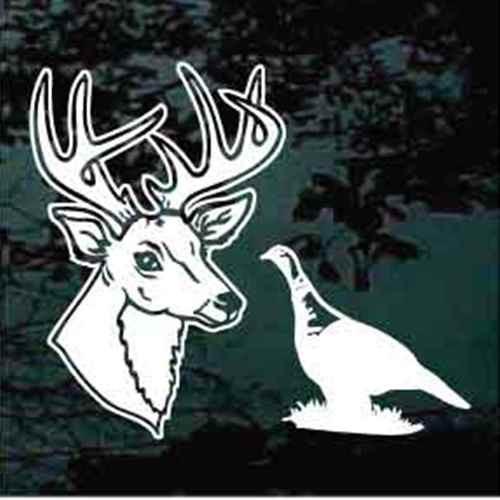 Sportsman Buck Deer Head & Turkey