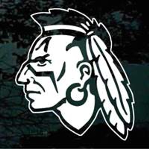 Indian Brave Mascot 01 Decal